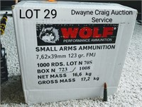 WOLF SMALL ARMS 7.62 x 39 1000 RNDS