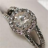 $14800 14K  Diamond(1.05ct) Diamond(0.75ct) Ring
