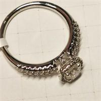 $7100 14K  Diamond(0.55ct) Diamond(0.25ct) Ring