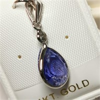 $1985 14K  Tanzanite(3ct) Diamond(0.1ct) Pendant