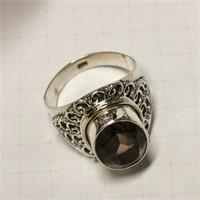 Silver Quartz Ring