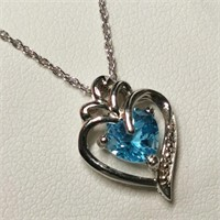 Silver Topaz Necklace