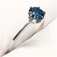$4800 14K  Fancy Vivid Blue Diamond(I1, 0.70ct) Ri