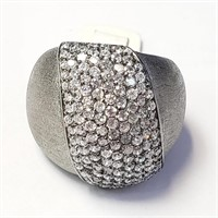 $250 Silver Cubic Crystal Ring