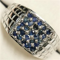 $240 Silver Sapphire Ring
