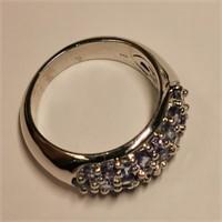 $300 Silver Tanzanite Ring