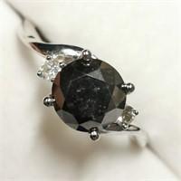 $3700 10K  Black Diamonds(2.4ct) Diamond(0.1ct) Ri