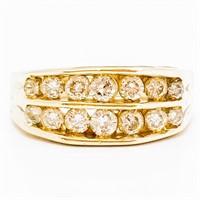 1 Carat Channel Set Diamond & 14k Band Ring