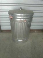 Galvanized Trash Can