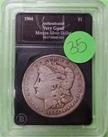 1904 - MORGAN SILVER DOLLAR (35)