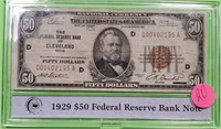 1929 $50 DOLLAR FEDERAL RESERVE BANK NOTE (20)
