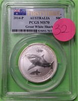 GRADED 2014-P GREAT WHITE SHARK .999 SILVER (32)
