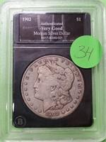 1902 - MORGAN SILVER DOLLAR (34)