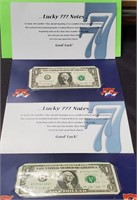 "(128) 2 ""LUCKY 777"" FEDERAL RESERVE NOTES"