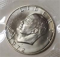 (131) 1972 & 1973 SILVER IKE DOLLARS