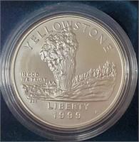 (134)1999 YELLOWSTONE NATIONAL PARK SILVER DOLLARS