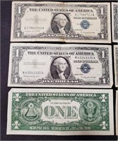 (136) 10 $1.00 SILVER CERTIFACATE'S