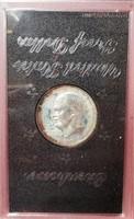 (129) 1972 PROOF IKE DOLLAR IN BROWN BOX