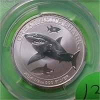 "2014 ""P"" ""MS70"" - 50C SILVER (WHITE SHARK) (131)"