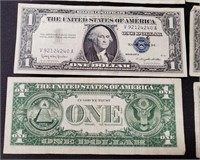 (138) 12 $1 SILVER CERTIFCATES