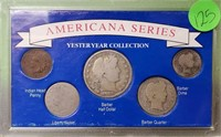 """(125) """"YESTERYEAR"""" US COIN COLLECTION"""