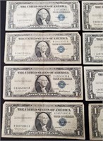 (137) 12 $1 SILVER CERTIFICATES