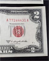 (141) 3 RED SEAL $2 BILLS
