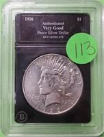 1926 - PEACE SILVER DOLLAR (113)