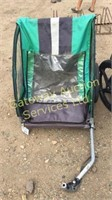 Green / Black Oryx Bike Trailer