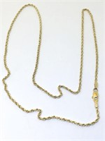14KT YELLOW GOLD 20 INCH ROPE CHAIN 5.00 GRS