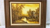 Framed & Signed Painting 21x24
