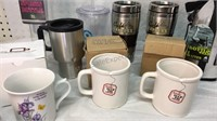 Assorted Mugs, Water Bottles and Travel Mugs