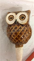 Owl Wine Stopper, Wine Glasses & Vintage Covers,