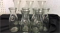Collection of Vintage Glass Bottles/Carafes