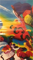 Large Peter Max Autographed Poster Blushing