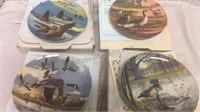 Set of 4 Bird Collector Plates