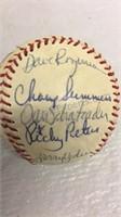 Vintage Detroit Tigers Autographed Baseball