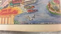 Vintage Detroit Poster 1987 19x27