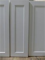 """WHITE SHAKER 36"""" UPPER 15PC L-SHAPED KITCHEN"""
