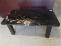 Metal bottom coffee table