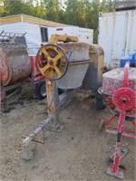 Large concrete mixer Monarch Industries runs