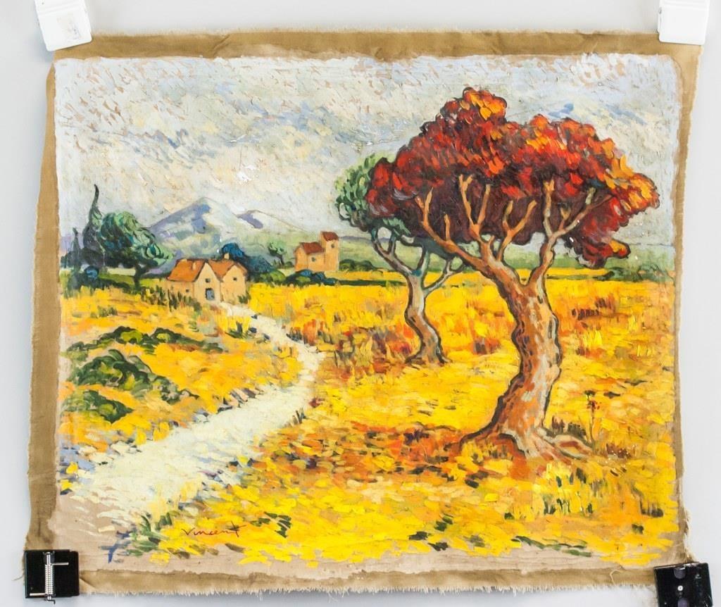 Vincent Van Gogh Dutch Impressionist Oil on Canvas