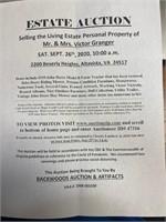09/26/2020 - On site Living Estate of Mr. & Mrs. Victor Gran