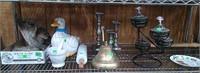 Bell, Duck Cookie Jar, Rolling Pin, Mortar, Pestle