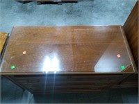 Glass Top 3 Drawer Chest 39x18x33