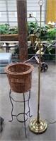 Plant Stand W/ Floor Lamp