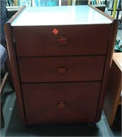 Glass Top End Table W/ Drawers 20x22x27
