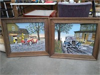 2 Framed Hargrove Prints