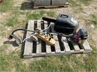 Weed Eater, 2pc Chainsaw, Sprinkler