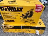 """Dewalt 12"""" compound miter saw (new in box) and"""